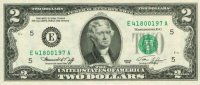 1976 $2.00 Bicentennial Federal Reserve Note - Gem Crisp Uncirculated
