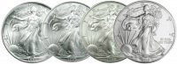 1986-2019 34-Coin Complete 1 oz American Silver Eagle Coin Set - Gem BU