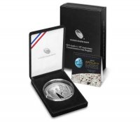 2019 Apollo 11 5 oz 50th Anniversary Commemorative Silver Dollar Coin (Proof) - w/ Box and COA