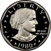 1980-S Susan B. Anthony Proof Dollar Coin - Choice PF