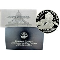 2000 Library of Congress Commemorative Silver Dollar Coin (Proof)