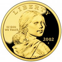 2002 Sacagawea Proof Golden Dollar Coin - S Mint