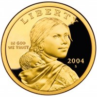 2004 Sacagawea Proof Golden Dollar Coin - S Mint