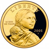 2005 Sacagawea Proof Golden Dollar Coin - S Mint