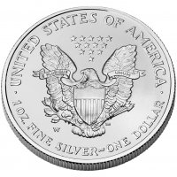 2008-W Reverse of 2007 1 oz American Burnished Silver Eagle Coin - Gem BU (w/ Box & C.O.A.)