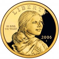2006 Sacagawea Proof Golden Dollar Coin - S Mint