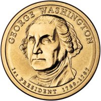 2007 George Washington Presidential Dollar Coin - P or D Mint
