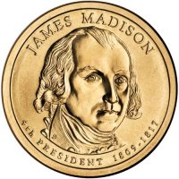 2007 James Madison Presidential Dollar Coin - P or D Mint