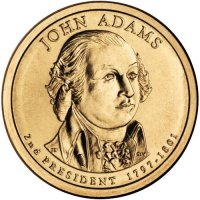 2007 John Adams Presidential Dollar Coin - P or D Mint