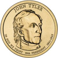 2009 John Tyler Presidential Dollar Coin - P or D Mint