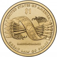 2010 Native American Golden Dollar Coin - P or D Mint
