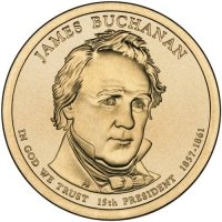 2010 James Buchanan Presidential Dollar Coin - P or D Mint