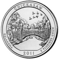 2011 Chickasaw Quarter Coin - P or D Mint - BU
