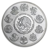 2011 5 oz Mexico Silver Libertad Coin - BU in Mint Issued Box