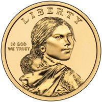 2011 Native American Golden Dollar Coin - P or D Mint