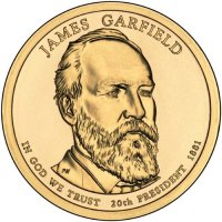 2011 James A. Garfield Presidential Dollar Coin - P or D Mint