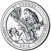 2012 El Yunque Quarter Coin - P or D Mint - BU