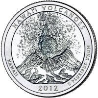 2012 Hawaii Volcanoes Quarter Coin - S Mint - BU