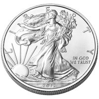 2012-W 1 oz American Burnished Silver Eagle Coin - Gem BU (w/ Box & C.O.A.)