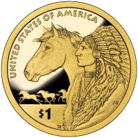 2012 Native American Proof Golden Dollar Coin - S Mint
