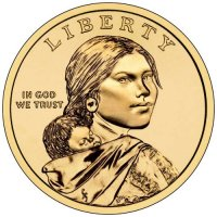 2012 Native American Golden Dollar Coin - P or D Mint