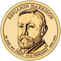 2012 Benjamin Harrison Presidential Dollar Coin - P or D Mint