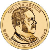 2012 Chester Arthur Presidential Dollar Coin - P or D Mint