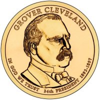 2012 Grover Cleveland (2nd Term) Presidential Dollar Coin - P or D Mint