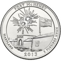 2013 Fort McHenry Quarter Coin - P or D Mint - BU