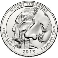 2013 Mount Rushmore Quarter Coin - P or D Mint - BU