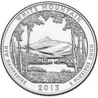 2013 White Mountain Quarter Coin - P or D Mint - BU