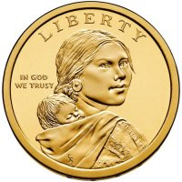 2013 Native American Golden Dollar Coin - P or D Mint