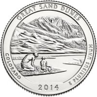 2014 Great Sand Dunes Quarter Coin - P or D Mint - BU