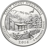 2014 Great Smoky Mountains Quarter Coin - P or D Mint - BU