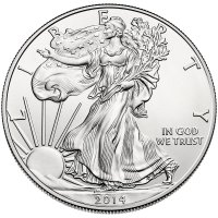 2014-W 1 oz American Burnished Silver Eagle Coin - Gem BU (w/ Box & C.O.A.)