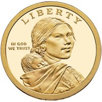 2014 Native American Proof Golden Dollar Coin - S Mint