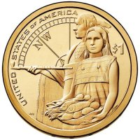 2014 Native American Golden Dollar Coin - P or D Mint