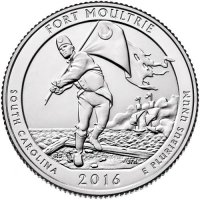2016 Fort Moultrie Quarter Coin - P or D Mint - BU