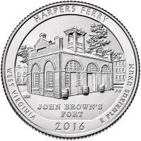 2016 Harpers Ferry Quarter Coin - P or D Mint - BU