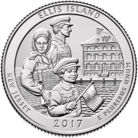2017 Ellis Island Quarter Coin - P or D Mint - BU