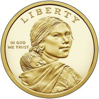 2017 Native American Proof Golden Dollar Coin - S Mint