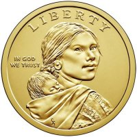 2017 Native American Golden Dollar Coin - P or D Mint
