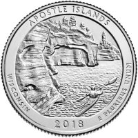 2018 Apostle Islands Quarter Coin - S Mint - BU