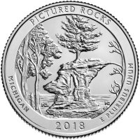 2018 Pictured Rocks Quarter Coin - P or D Mint - BU