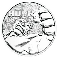 2019 1 oz Tuvalu Silver Marvel Series - Hulk Coin - Gem BU