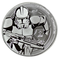 2019 1 oz Niue Silver Clone Trooper - Star Wars Coin - Gem BU