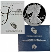 2019-W 1 oz American Proof Silver Eagle Coin - Gem Proof