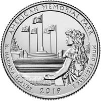 2019 American Memorial Quarter Coin - P or D Mint - BU