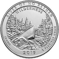 2019-W River of No Return Wilderness Quarter Coin - W Mint - BU