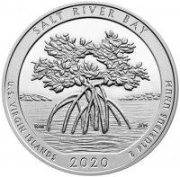 2020 5 oz ATB Salt River Bay National Historic Park and Preserve Silver Coin - Gem BU (In Capsule)